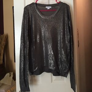 Cotton On Silver Metallic Knit Sweater