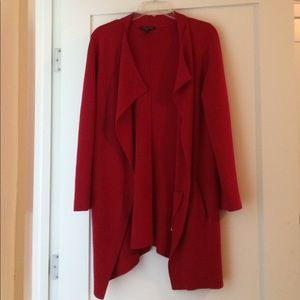 Red Eileen Fisher Cardigan with pockets