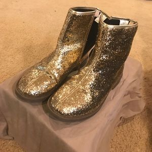 Other - Gold Glitter Booties