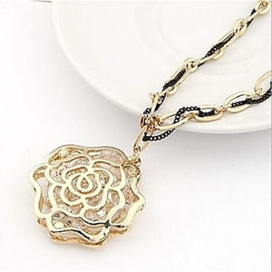 Jewelry - Valencia Gold Plated Pendant Necklace