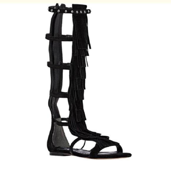 e6c29e64e3e7 Alice + Olivia Paula Fringe Gladiator Sandals