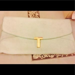 Ted Baker Jamun T Calf Hair Mint Green Clutch
