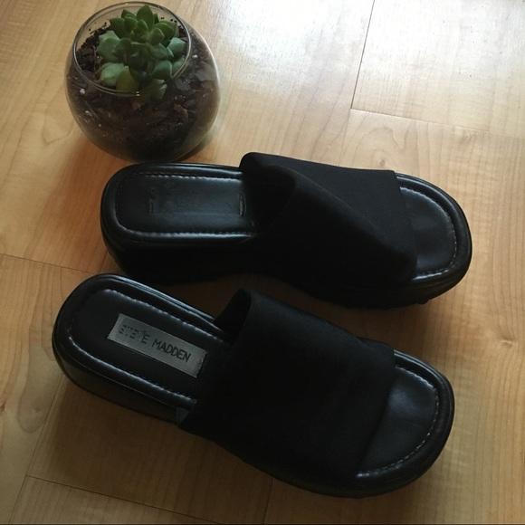 c5ff7b434a28 90s Slinky Slide Platform Sandals. M 59961347a88e7de1dc0447ca