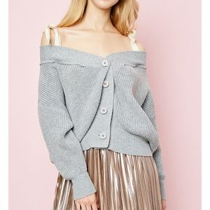 🆕Mary Gray Off the Shoulder Sweater Cardigan