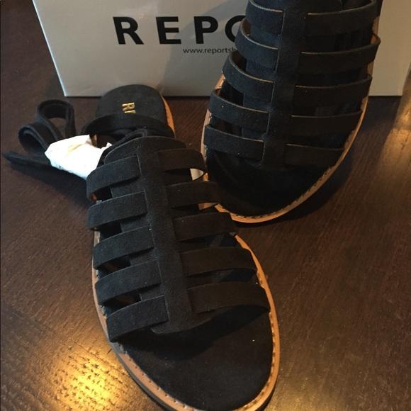 077688b9e2b Report Zella sandals in black suede