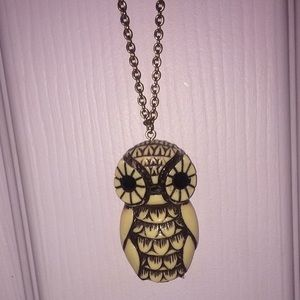 Jewelry - Wooden Owl Necklace