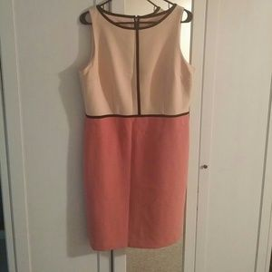 A line dress from Loft size 12 peach soft pink and