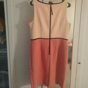 LOFT Dresses - A line dress from Loft size 12 peach soft pink and