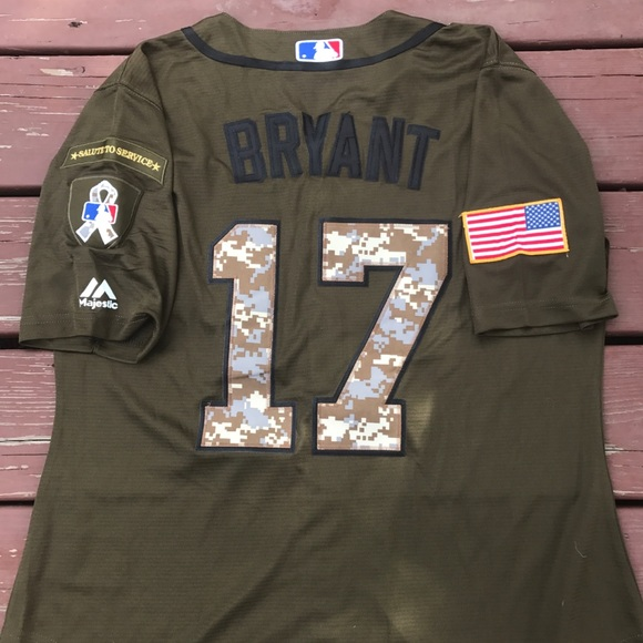 buy popular f8e37 b2281 Women's Kris Bryant Cubs Military Camo Jersey XL NWT