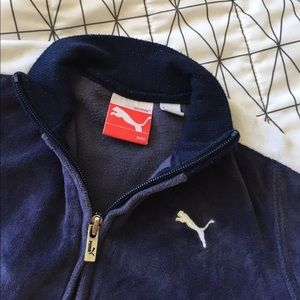 $3 SALE! Puma sweatshirt navy velour - top only!