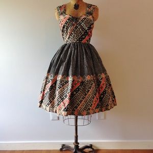 Vintage Handkerchief Picnic Summer Dress