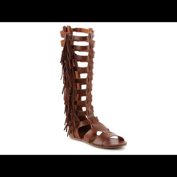 d9b06ad4fb Mia Shoes | Donata Fringe Gladiator Sandals | Poshmark