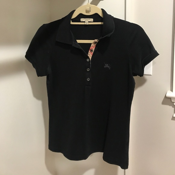 cf4eb6a01 Burberry Tops | Black Womens Polo Shirt | Poshmark