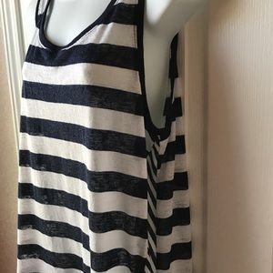 LANE BRYANT Striped Sassy Sleeveless Top