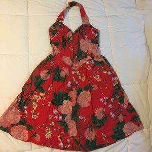 PERFECT Vintage Hawaiian Novelty Print 1950s Dress