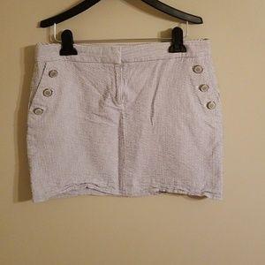 J Crew Seersucker Mini Skirt