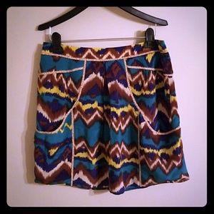 Anthropologie Mini Skirt Small Ikat