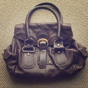 Nine West Brown Leather Hand Bag