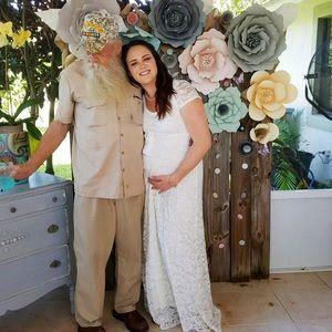 6507298937462 Pinkblush Dresses   Ivory Lace Sash Tie Maternity Gown   Poshmark