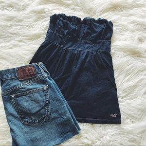 Tube Top from Hollister Navy Blue