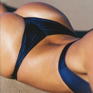 Frankie Swimwear Navy Barbados Bottoms Size 8/M