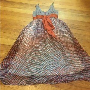Sweet Sinammon L.A. Pattern silk dress full lining