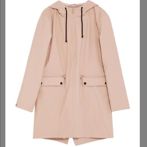 9541f4ce Zara Jackets & Coats | Sale Trendy Water Repellent Parka Raincoat ...