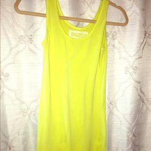 Dresses & Skirts - Lime green/yellow T-shirt dress - skin tight