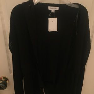 Calvin Klein sweater cardigan BNWT black