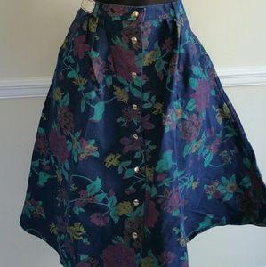 1990's Deadstock Denim Circle Skirt