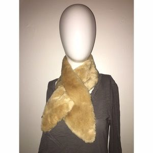 Caramel Color Faux Fur Scarf