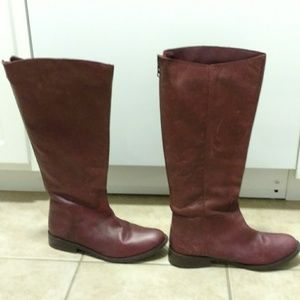 BDG Shoes - BDG Urban Outfitters Wine Leather Boots Size 9