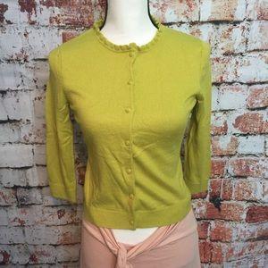 {Banana Republic} lime green sweater