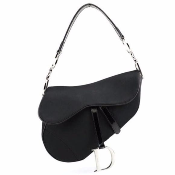 62bac5daac81 Christian Dior Handbags - 🔥HUGE SALE🔥DIOR Leather-Trimmed Nylon Saddle Bag