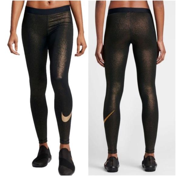 Nike Pro metallic tights. M 599651a84225bec8ab0019a7 555f224db