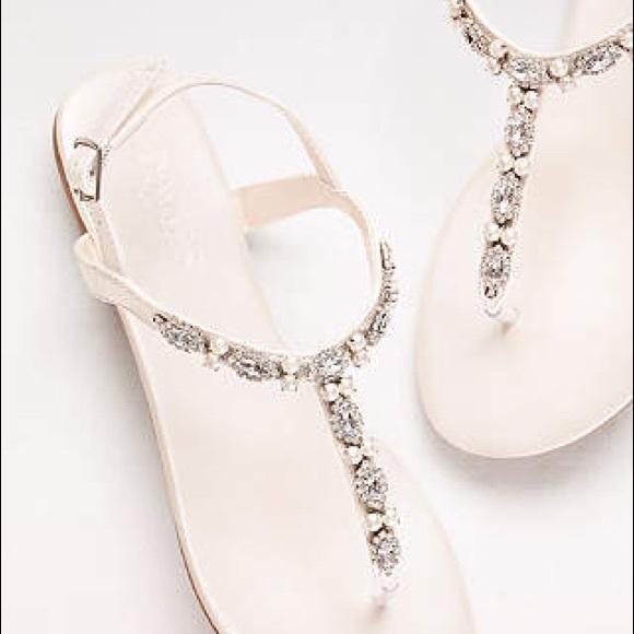 4a4eabe20a40c David s Bridal Beaded Wedding Sandals