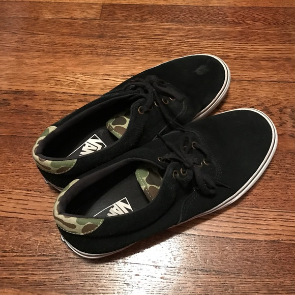 Vans Shoes - Black and camo vans