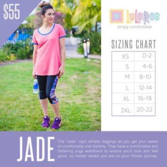 aac26455ade1cd LuLaRoe Pants | Nwt Jade Capri Leggings Sz Medium | Poshmark