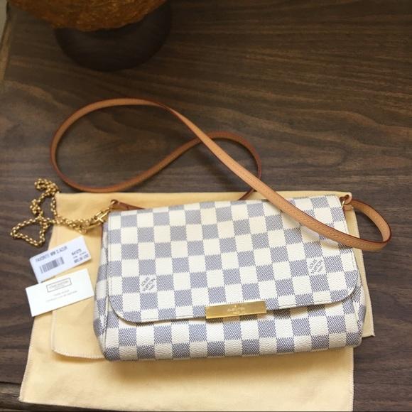 f8f4dd67ab5c Louis Vuitton Handbags - Louis Vuitton Damier Azur Favorite MM