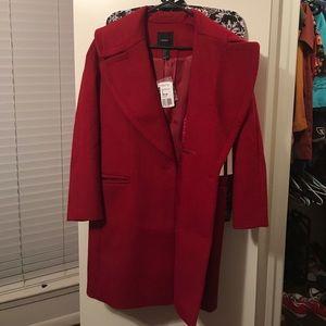 Forever 21 Oversized Coat Red