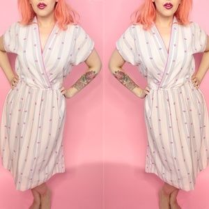 Leslie Fay Dresses - Vintage Strawberry Print Dress
