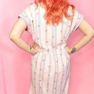 Leslie Fay Dresses - Vintage Strawberry Print Dress