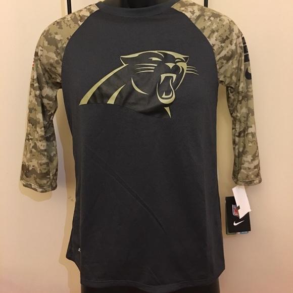 best cheap ad673 510d0 Women's Carolina Panthers Nike Dri-Fit Shirt NWT