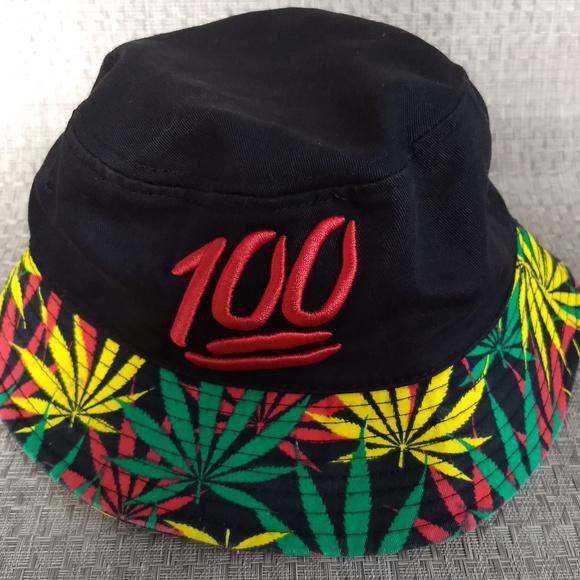 Accessories - Black Bucket Hat - Keep it 100 - Weed Brim d8d09f521f1