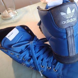 Addidas Original cobalt blue 3 stripe hi top