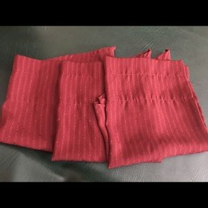 Other - 3 Wine colored valances