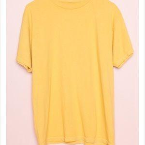 Brandy Melville yellow tee
