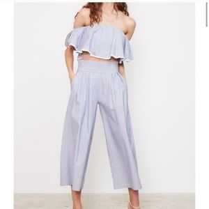 MISA Los Angeles Ilian Striped Bazaar Pants XS NEW