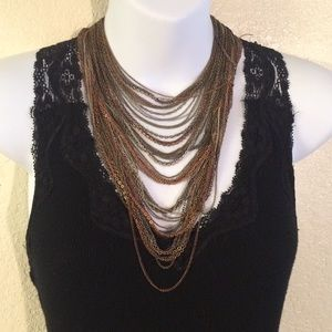 Jewelry - Layered Multi Color Chain Necklace