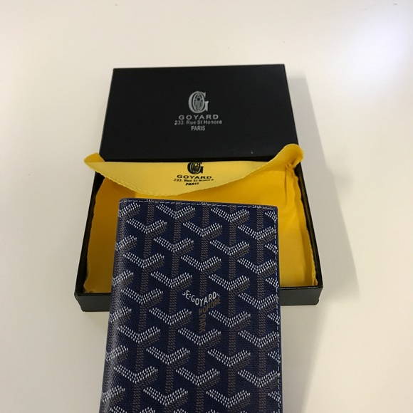 37c5c7d09e4b New Goyard Passport Holder/Wallet in Black NWT